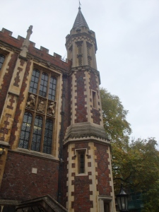 One of the spires at Lincoln's Inn October 2015