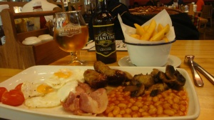 English Breakfast at Heathrow before I Boarded the Plane October 2015