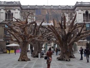 Ai Weiwei's Tree sculpture in the courtyard of the Royal Academy of Arts