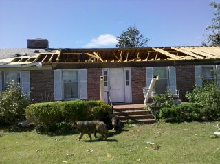 house after tornado